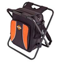 Harley-Davidson® Backpack Cooler Seat Orange & Black 99304-BLK - Wisconsin Harley-Davidson