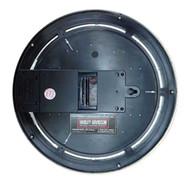 Harley-Davidson® Essential Bar & Shield Blue Neon Clock, 12 in Diameter HDL-16675 - Wisconsin Harley-Davidson