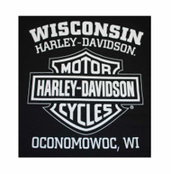 Harley-Davidson® Men's Prestige Eagle B&S Short Sleeve T-Shirt Black 30298299