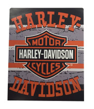 Harley-Davidson® Shades Raschel Silk Touch Throw Blanket, Black & Orange NW079946