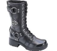 Harley-Davidson® Women's Eda 9-Inch Boots. Inside Zipper. Lace Front. D83736 - Wisconsin Harley-Davidson