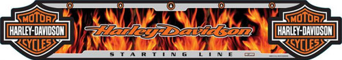 Harley-Davidson® Dart Throw Line, Flame Floor Throwing Line, Poly 61954