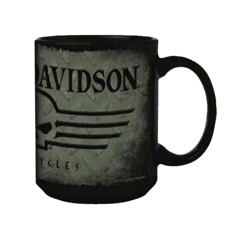 Harley-Davidson® Coffee Mug, Willie G Skull 15 oz. Gray & Black Mug HD-HD-924 - A