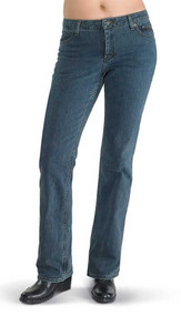 Harley-Davidson® Womens Stretch Fit Boot Cut Med Blue Jeans Mid-Rise 99113-11VW - Wisconsin Harley-Davidson
