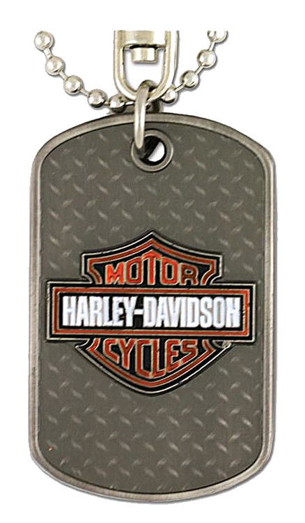 Harley-Davidson® Dog Tag, Willie G. Skull / Bar & Shield Logo, Silver 8002732 - A