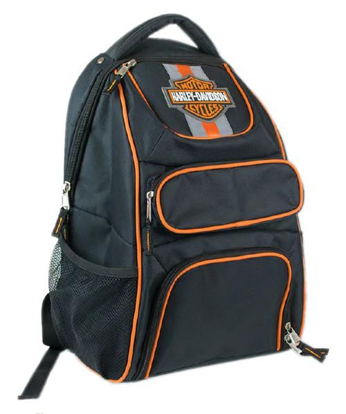 Harley-Davidson® Compact Bar & Shield Reflective Backpack, 12 x 17 Black 7180541 - Wisconsin Harley-Davidson