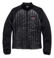 Harley-Davidson® Mens Gear Wheel Packable Down Mid-Layer Jacket Black. 98554-15VM