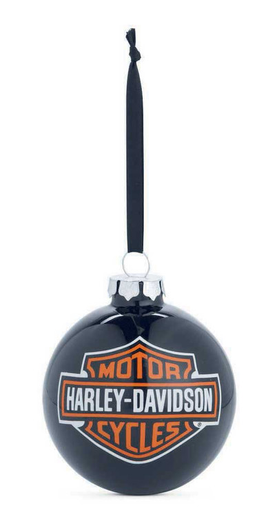 Harley-Davidson® Bar & Shield Logo Ball Ornament, Black Christmas. 99204-14V