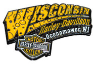 Harley-Davidson® Cheese Pin Yellow & White W CHEESE