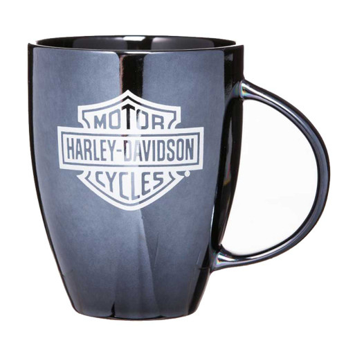 Harley-Davidson® Ceramic Coffee Mug, Bar & Shield Bistro 18 oz Black 3BLM4900