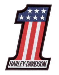 Harley-Davidson® #1 Red, White & Blue Small Patch EM227842