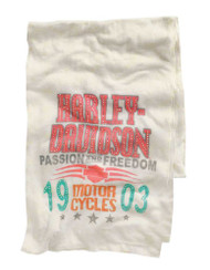 Harley-Davidson® Women's Scarf, Passion & Freedom Embellished, White 97656-14VW