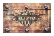 Harley-Davidson® Embossed Flames Bar & Shield Entry Floor Mat, Brown 41EM4901 - Wisconsin Harley-Davidson