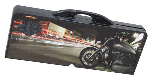 Harley Davidson Sports Picnic Table Fold Able City Night Print Black