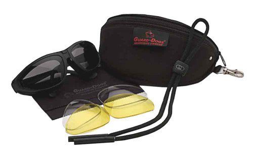 Guard-Dogs Sidecars II Motorcycle Glasses, Interchangeable 3 Lens Kit, 131-90-01 - D