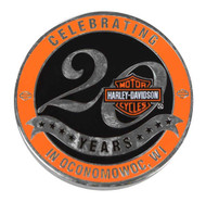 Harley-Davidson® Wisconsin Dealership Challenge Coin Celebrating 20 Years WHDCOIN - A