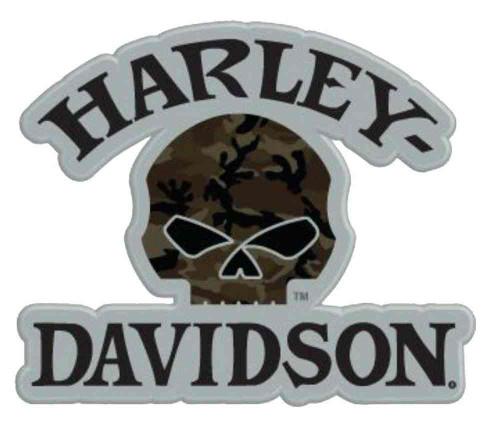 Harley-Davidson® Camouflage Willie G Skull Logo Pin, 1.5 x 1.25 inch 181129