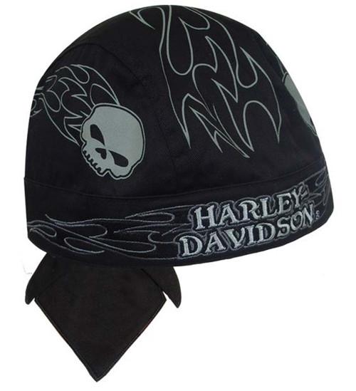 Harley-Davidson® Dead Serious Skull Black Head Wrap HW75730