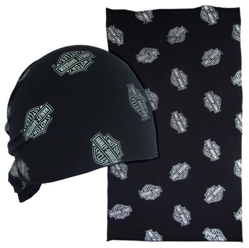Harley-Davidson® Chrome Bar & Shield Multifunctional Headwear Wrap. MHW108330 - A