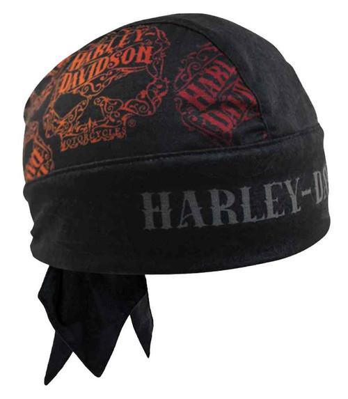 Harley-Davidson® Womens Ornate Willie G Skull Head Wrap, Moisture Wicking HW14630