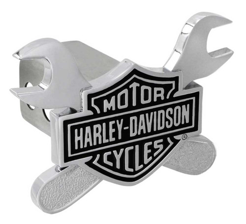 Harley-Davidson® 3D Bar & Shield Cross Wrenches Trailer Hitch Cover, 2 in HDHC276 - A