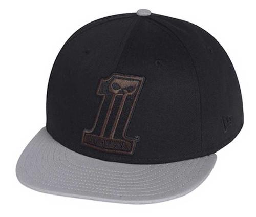 dda4b631cf730 ... hot harley davidson 1 colorblocked 59fifty baseball hat cap black gray.  99403 15vm 1fb90 e9fb6