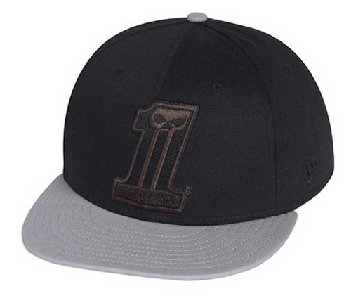 Harley-Davidson® #1 Colorblocked 59Fifty Baseball Hat Cap, Black/Gray. 99403-15VM