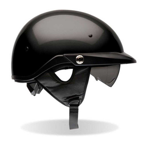 BELL Pit Boss Ultra-Light Motorcycle Helmet w/ Sun Shade Solid Black 2033 - A