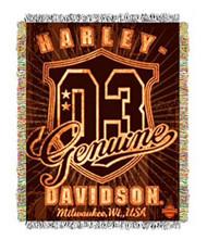 Harley-Davidson® Genuine Metallic Tapestry Blanket 48'' x 60'' NW512917