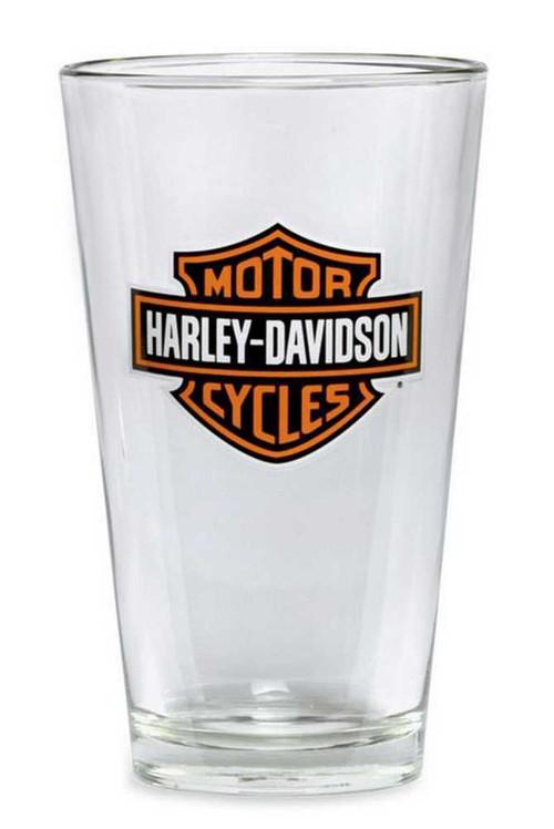 Harley-Davidson® Bar & Shield Logo Pint Glass 16 oz, Barware Glassware 99307-13V - Wisconsin Harley-Davidson