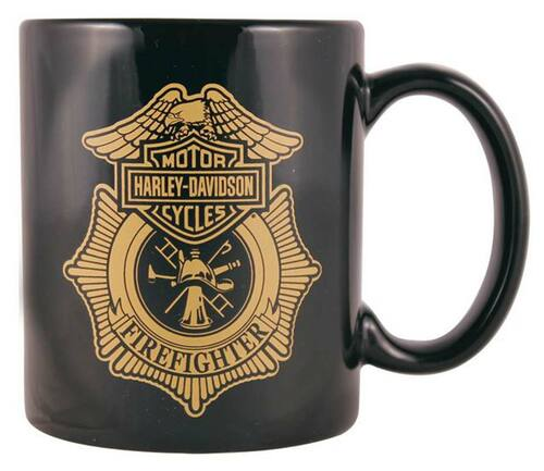 Harley-Davidson® Firefighter Original Black Ceramic Coffee Mug, 11 oz. CM126530