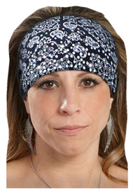That's A Wrap Women's Foil Dazzle Paisley Bandana - Black KB1624R