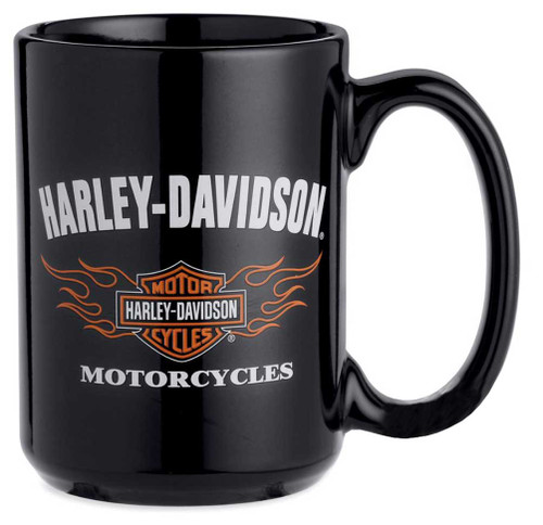 Harley-Davidson® Flames Bar & Shield Logo Ceramic Mug 15 oz, Coffee Mug 99200-14V