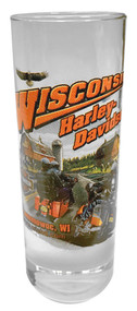Harley-Davidson® Wisconsin Harley-Davidson® Dealer Tall Shot Glass, Clear CSHOT