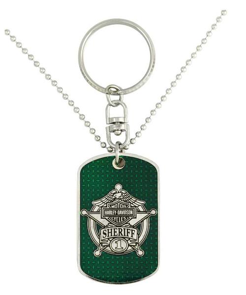 Harley-Davidson® Dog Tag, Sheriff Trans Bar & Shield Chain/Key Chain 8002848 - A