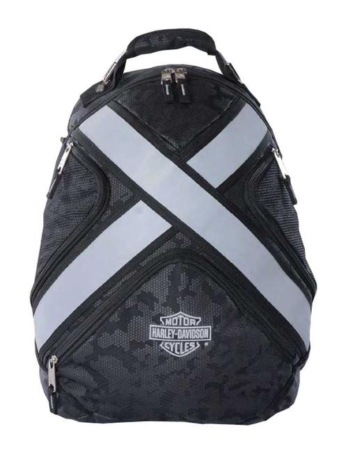harley davidson x treme reflective bar shield backpack. Black Bedroom Furniture Sets. Home Design Ideas