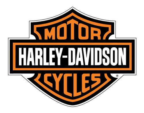Harley-Davidson® Decal, Orange Bar & Shield Logo, X-Large 29 x 37 Inch CG4310