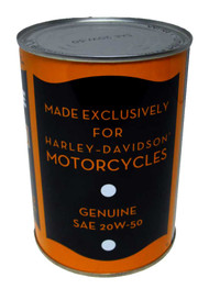 Harley-Davidson® SAE 20W-50 Limited Edition H-D Genuine Vintage Oil Can, 62600062 - A