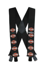 Harley-Davidson® Men's Suspenders, Bar & Shield, Extra Long 54 Inch SUS302306