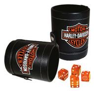 Harley-Davidson® Bar & Shield Logo Dice Cup Game Set, Leatherette Cup 651 - Wisconsin Harley-Davidson