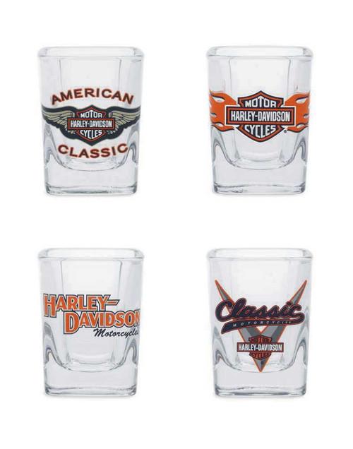 Harley-Davidson® Classic Shot Glass Set, 2 oz. Set of 4 Bar Glassware 99209-14V