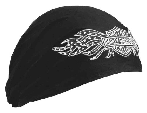 Harley-Davidson® Women's Studded Winged Bar & Shield Headwrap, Black 99449-10VW
