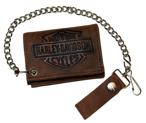 Ladies T Shirt Ford Mustang Pony Tri Bar Design Women S: Harley-Davidson® Men's Bar & Shield Tri-Fold Biker Chain