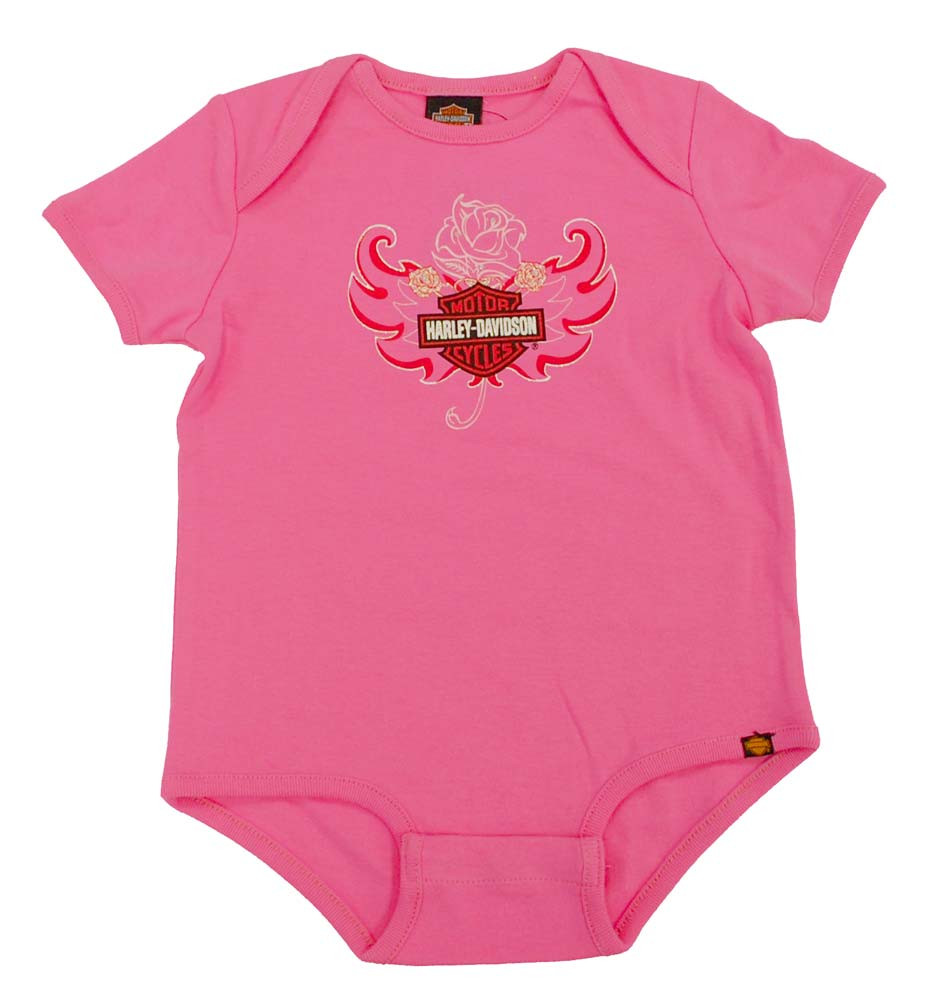 Harley Davidson Baby Girls Rose Bar Shield Creeper S9lgi52hd