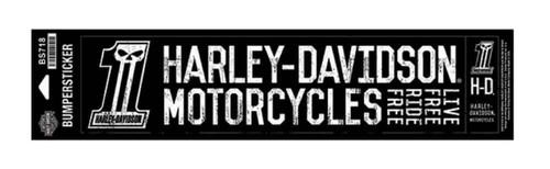 Harley-Davidson® #1 Skull Bumper Stickers, Lg & Sm, Black/White BS718 - Wisconsin Harley-Davidson