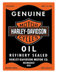 Harley-Davidson® Genuine Motor Oil Can Rectangle Tin Sign 17 x 13 Inches 2010631 - Wisconsin Harley-Davidson