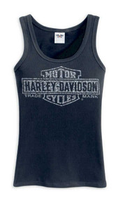 Harley-Davidson® Women's Bar & Shield Trademark Logo Tank, Black 99102-12VW - Wisconsin Harley-Davidson