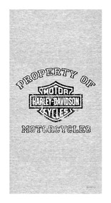 Harley-Davidson® Beach Towel, Distressed Property Of Harley, 30 x 60 inch, 11246
