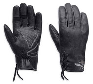 Harley-Davidson® Women's Swingback Distress Full-Finger Leather Gloves 98343-15VW - Wisconsin Harley-Davidson