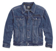 Harley-Davidson® Men's Eagle Bar & Shield Denim Jacket 99006-14VM - A